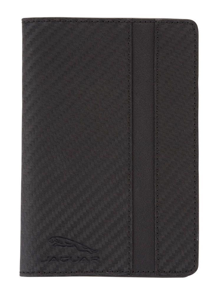 Leather Passport Holder - Black