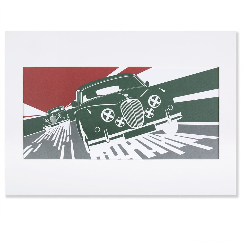 Heritage Art Print - Green and Red (A3)