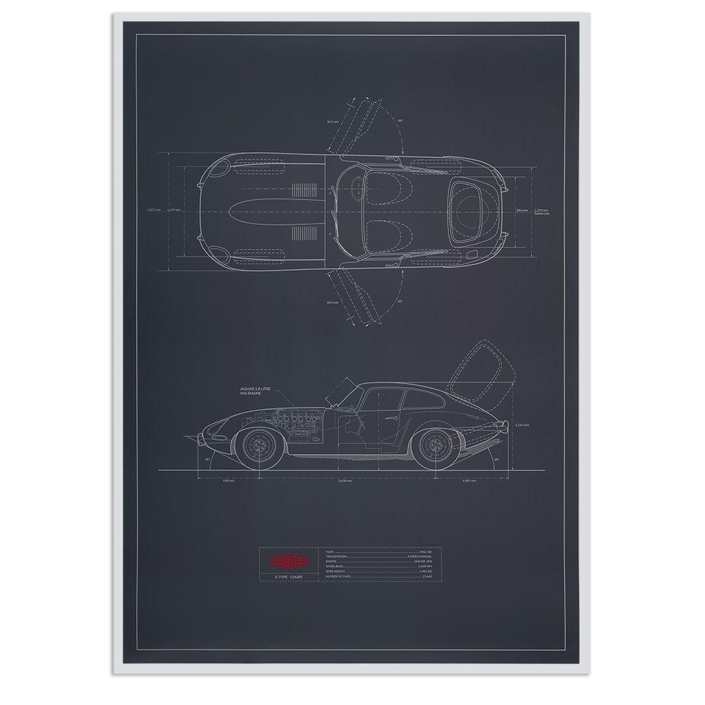 Limited Edition Jaguar E-type Artwork (700 x 500mm)