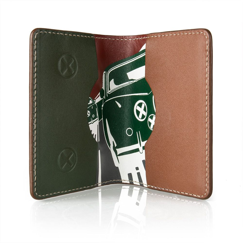 Heritage Dynamic Graphic Leather Card Holder