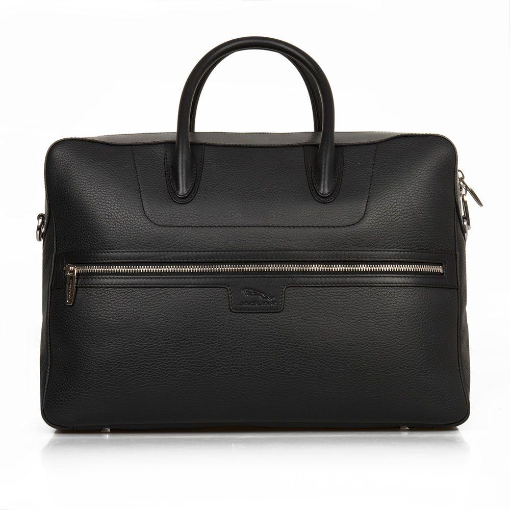 Leather Brief Case - Black