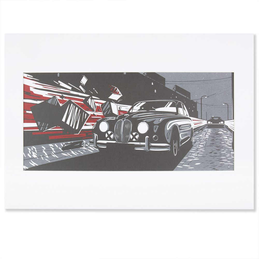 Heritage Art Print - Black and Red (A3)