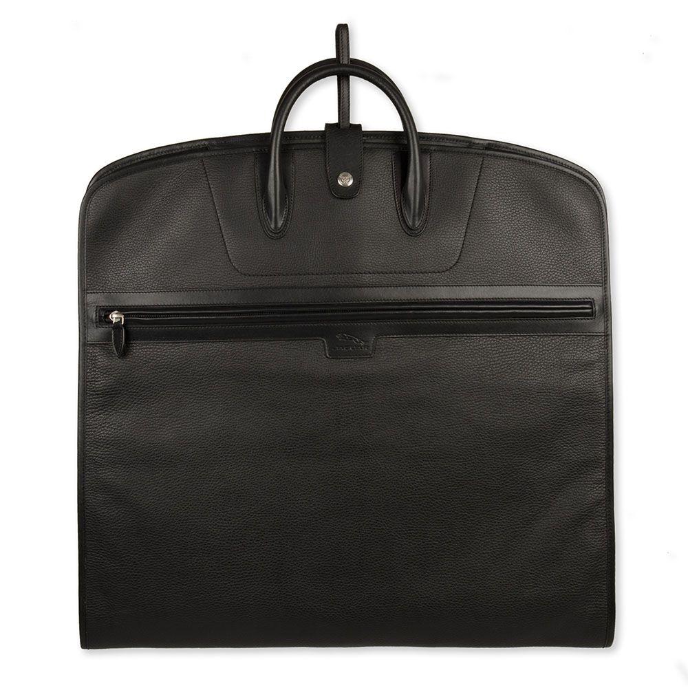 Leather Suit Carrier - Black
